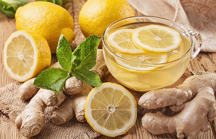 الزنجبيل و عصير الليمون للشعر